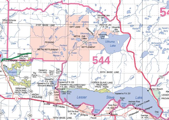 seal lake alberta map Alberta Guide To Hunting Regulations seal lake alberta map
